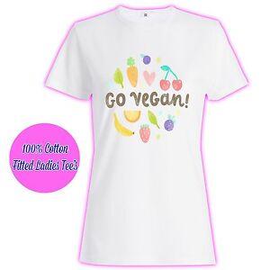 90e198bf80 Image is loading Go-Vegan-Vegetarian-Animal-Girls-Womans-Ladies-Pink-