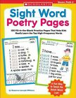 Sight Word Poetry Pages 100 Fill in The Blank Practi Williams Rozanne Lanczak