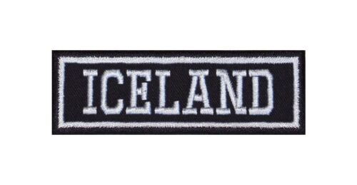 Iceland Biker Patch ricamate country rocker paese area MOTORCYCLE Home Love