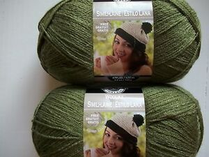 Details about Loops&Threads Woolike super fine yarn, Sage (green), lot of 2  (678 yds each)