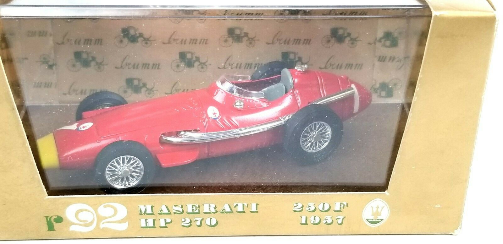 Brumm 1957 Maserati 250F HP HP HP 270 Red 1 43 O Scale Diecast Model Car Replica 19fe81