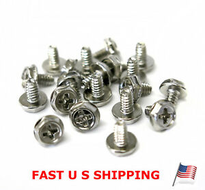 10 Pieces Toothed Hex 6//32 Computer Mounting Screws
