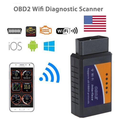 USA ELM327 WiFi OBD2 OBDII Car Diagnostic Scanner Code Reader Tool All Fit 1996+
