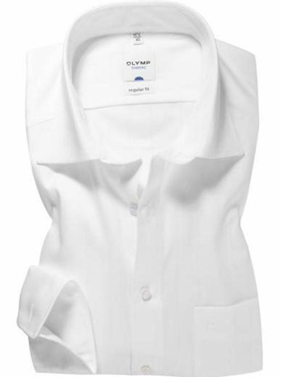 White Poplin Spread Collar