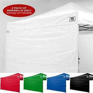 Image is loading 10x10-EZ-Pop-Up-Canopy-Tent-Sidewalls-Kit- & 10x10 EZ Pop Up Canopy Tent Sidewalls Kit 4 WALLS ONLY Gazebo ...