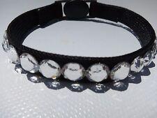 New! Black w/ Genuine Swarovski Crystals Fancy break-away cat/kitten collar