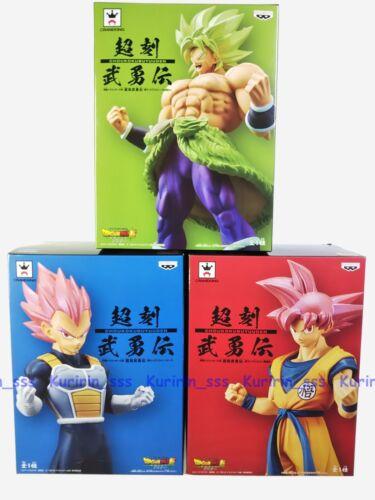 Set 3 DragonBall Super CHOUKOKU BUYUUDEN BROLY GOKOU VEGETA Figure BANPRESTO