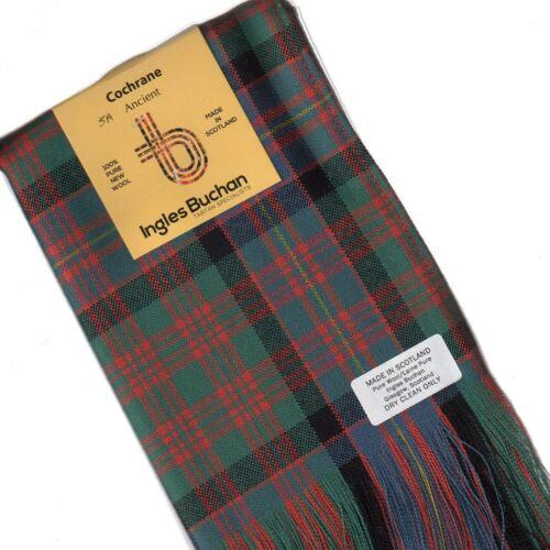 Tartan Sash Clan Cochrane Ancient Ladies Scottish Wool Plaid