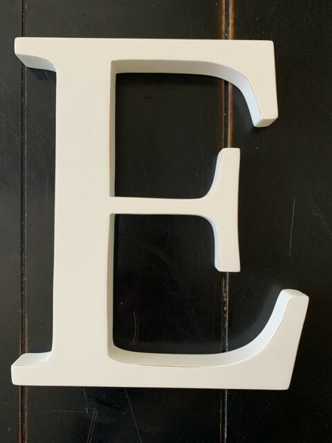 Pottery Barn Kids Wall Letter 8 Inches White Color