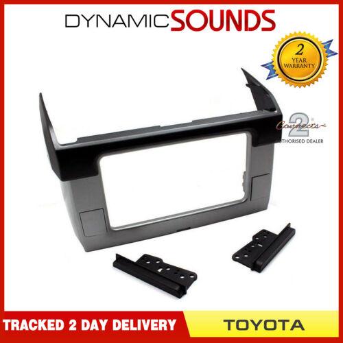 CT23TY49 Voiture Stéréo Double Din Fascia Adaptateur noir//argent pour Toyota Prado 2014