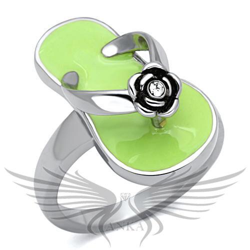 Elegant Top Grade Crystal Cocktail Fashion Ring 5 6 7 8 9 10 TK814 *