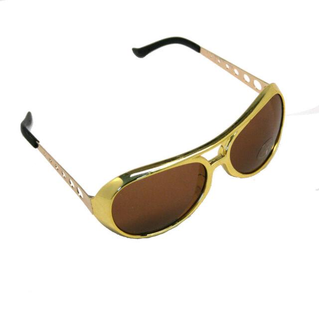 d8f40e8f1c36 RINCO 12 Gold Rock Star Costume Aviator Sunglasses for sale online ...