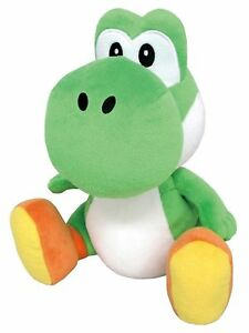 "New Super Mario Bros Wii Plush Green Yoshi Soft Toy Doll Stuffed Animal 13/"" BIG"
