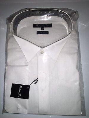 Gewissenhaft Brand New Mens White Victorian Collar Shirts. Richard Jones With Double Cuff SpäTester Style-Online-Verkauf Von 2019 50%