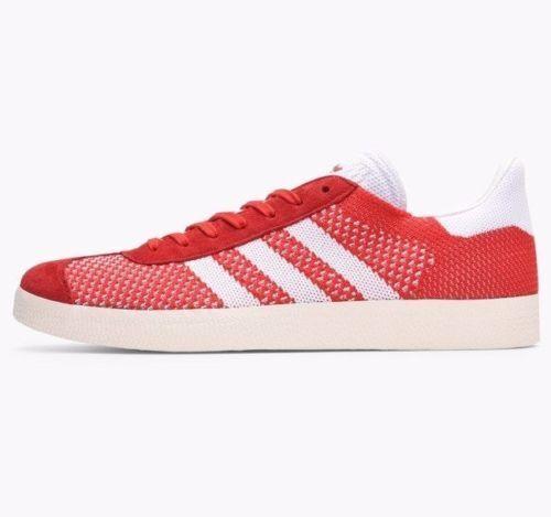 Adidas Gazelle Primeknit entrenadores  Rojo blancoo  BB5247  Reino Unido 8, 9, 10, 10.5