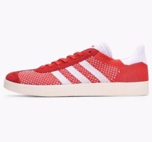 Adidas-Gazelle-Primeknit-Baskets-Rouge-Blanc-BB5247-UK-8-9-10-10-5
