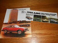 1980 AMC SPIRIT CONCORD EAGLE PACER AMX CATALOG + 80 FOLDOUT BROCHURE 2-4-1 Deal