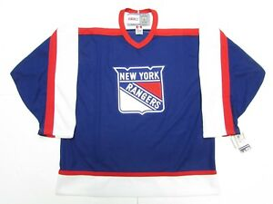 Image is loading NEW-YORK-RANGERS-VINTAGE-CCM-BLUE-HOCKEY-JERSEY- 90ba0fbd2
