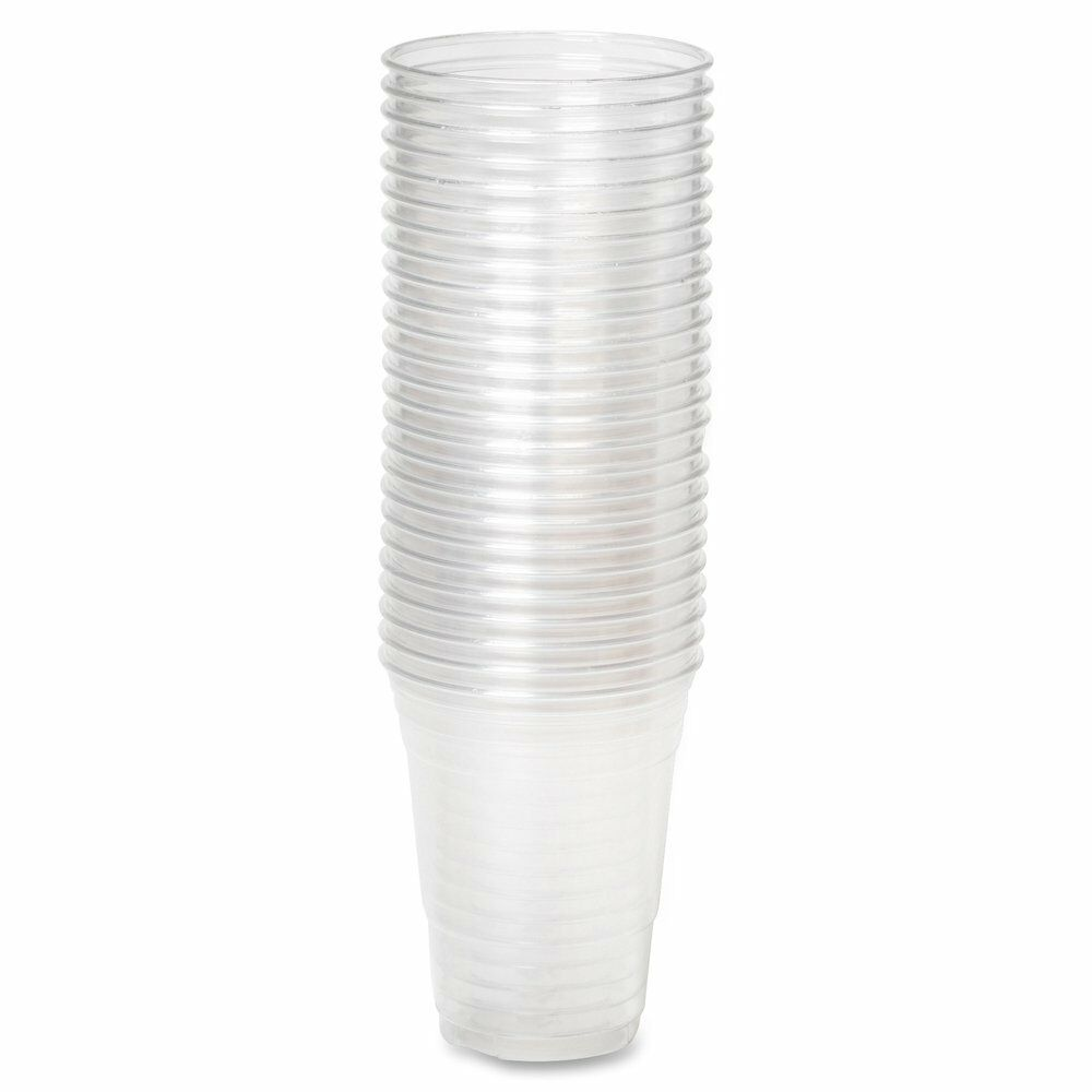 Clear Plastic 7 oz Disposable Style Cups/Binge Glass/Vending Style Disposable  Free p&p 9e65db