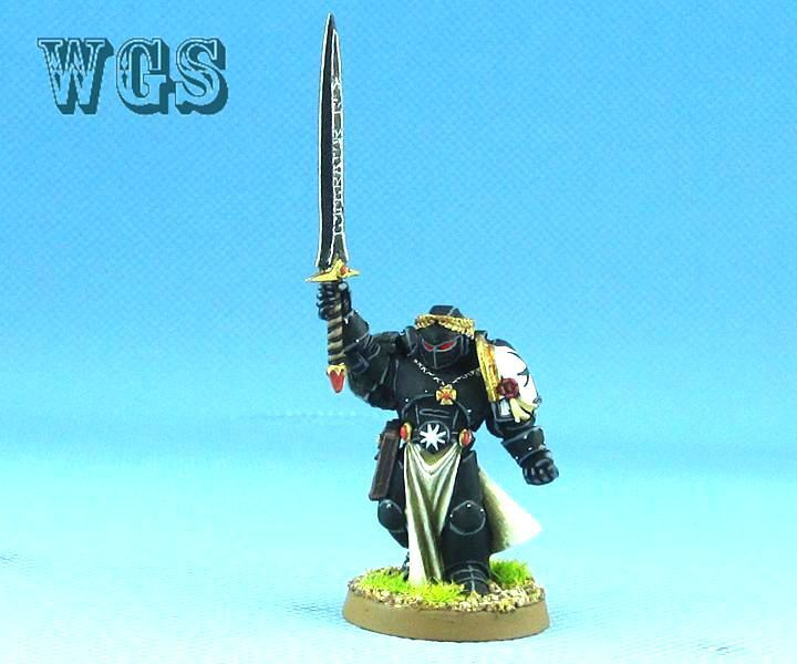 25 mm Warhammer 40K WGS Painted Space Marine  L'EMPEREUR'S CHAMPION SM016  prix ultra bas