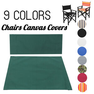 Replacement-Canvas-Seat-amp-Back-Cover-Outdoor-Patio-Garden-Directors-Chair-Cover