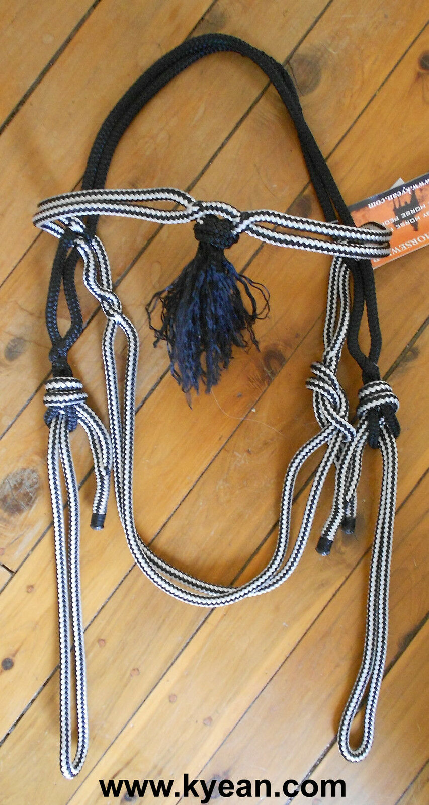 PROFESSIONALLY MADE ROPE BRIDLE HEADS with TASSEL COB FULL SIZE