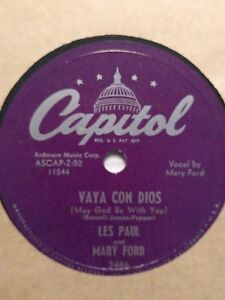 Les-Paul-amp-Mary-Ford-034-Vaya-Con-Dios-Johnny-034-78-RPM-Capitol-2486-Ex-1953