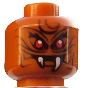Lego-2-Stueck-Monster-Alien-Kopf-in-dunkel-orange-fuer-Minifigur-3626cpb1758-Neu