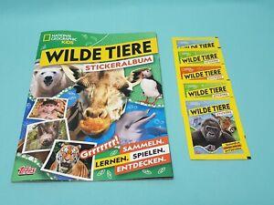 National-Geographic-Topps-Wilde-Tiere-Animals-Sticker-Sammelalbum-5-Tuten