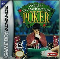 World Championship Poker (nintendo Game Boy Advance, 2004) Factory Sealed