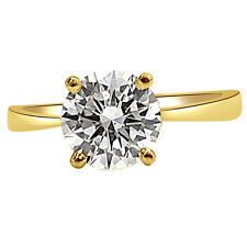 IGL Cert 0.18ct Round Solitaire Diamond Engagement Ring in 18kt Gold SDRSOL34
