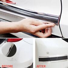 Car Auto Carbon Fiber Silver Rubber Edge Guard Strip Door Sill Protector Parts Fits 1999 Jeep Wrangler