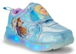 GIRLS-SNEAKERS-LIGHT-UP-SHOES-DISNEY-FROZEN-2-FASHION-SIZE-12-Y-NEW-WT