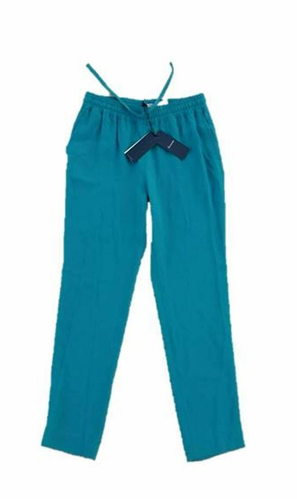 345 FACONNABLE   blue Canard   Drawcord PANTS in GREEN 6 Free Shipping