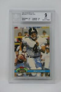 1991 Stadium Club #94 Brett Favre UER Rookie Packers 🔥Beckett 9 MINT