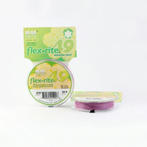 Many Colors BeadSmith® Flex-Rite® 49 Strand Wire 9M Flexible Premium Quality