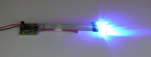 RC LED Lichter Set Stroboskop /& Flash Effects Chaser 4Blue LEDs 3,5//10 mm