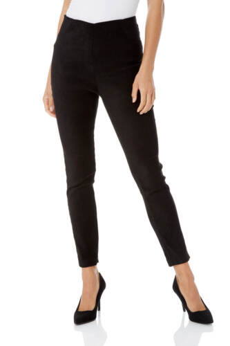 Roman Originals Women Full Length Suedette Stretch Trousers
