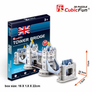 World-039-s-Great-Architecture-Tower-Bridge-32-Piece-3D-Model-DIY-Hobby-Build-Kit