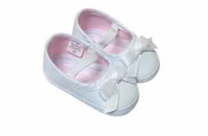 SFK-Wee-Kids-Baby-Girl-White-Shoes-Newborn-0-3mos-baby-infant-mary-jane