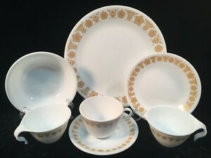 Corelle-By-Corning-BUTTERFLY-GOLD-43-Assorted-Pieces
