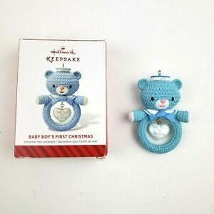 Hallmark-Keepsake-Baby-Boys-First-Christmas-Blue-Bear-Ornament-2014