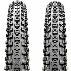 "1 PAIR Maxxis Crossmark MTB Tyres 2PCS 26 x 2.10/"" Black Mountain Bike Tires"