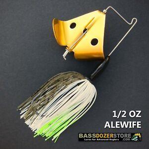 Buzzbait-RAPPER-1-2-oz-ALEWIFE-buzz-bait-buzzbaits-KVD-trailer-hook
