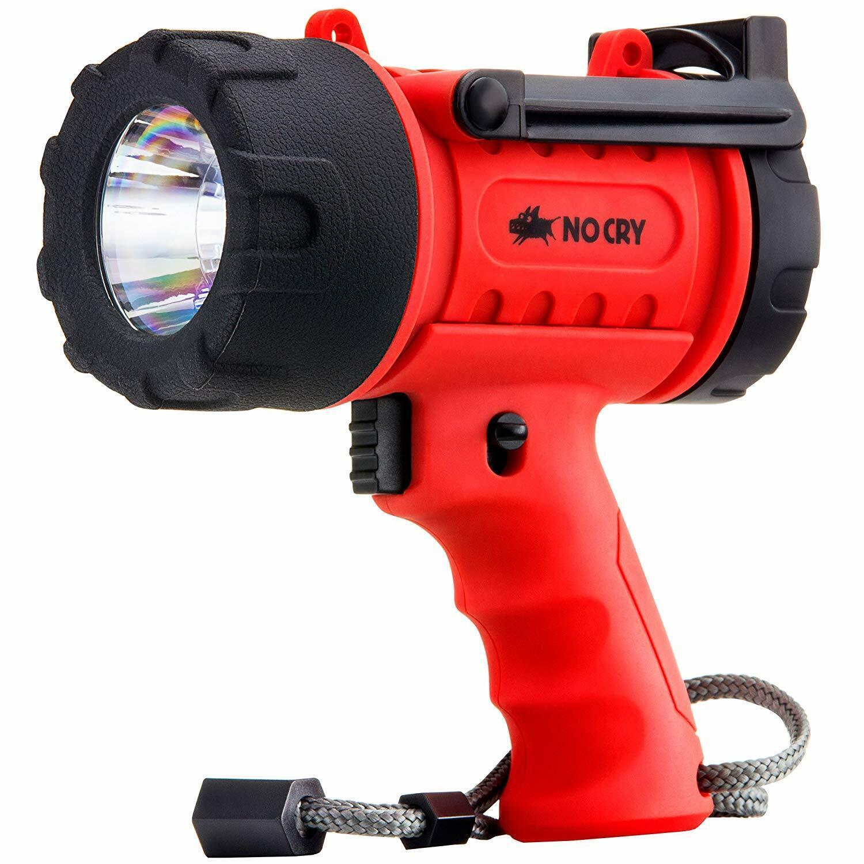 Nocry DEL Lampe de poche   Résistant à l'eau à nouveau Chargeable   Projecteurs Avec 100