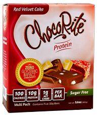ChocoRite - Red Velvet Cake High Protein BarsLow Calorie, Low Sugar, 5ct