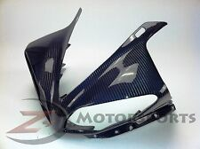 2009-2011 Yamaha R1 Upper Nose Headlight Fairing Cowl 100% Carbon Fiber Blue
