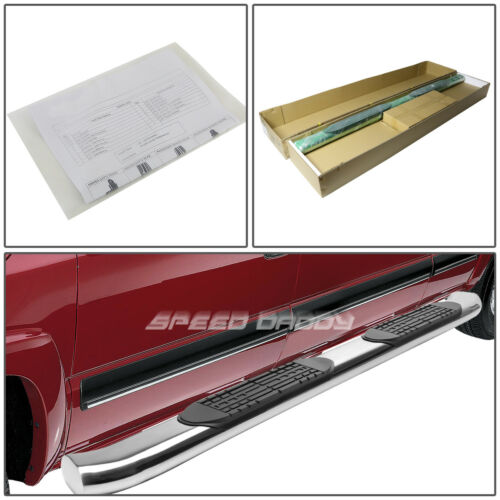 """FOR 02-09 DODGE RAM TRUCK CREW 4/"""" CHROME CURVED OVAL STEP NERF BAR RUNNING BOARD"""
