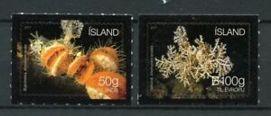 Iceland-2017-MNH-Seabed-Ecosystem-II-Clams-Corals-2v-S-A-Set-Marine-Stamps
