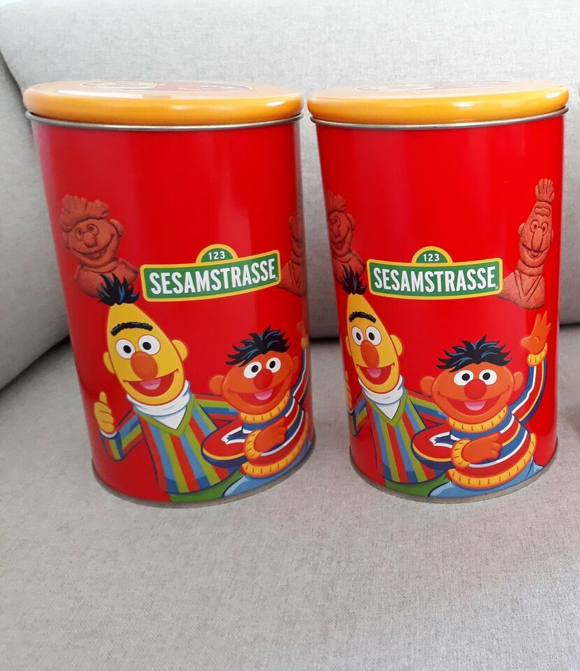 Dåser, 2 Sesamstrasse /Sesame Street dåser